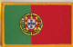 Portugal Embroidered Flag Patch, style 08.